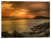Sunset over Lismore Island, Acrylic Print