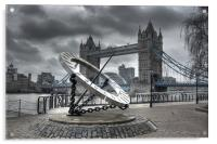 Tower Bridge & Sundial, Acrylic Print