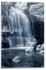 Ice Rocks at Scaleber Force Falls, Acrylic Print