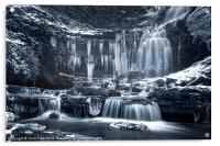Winter Wonders at Scaleber Force (BW), Acrylic Print