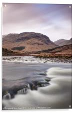 Flowing River Etive, Acrylic Print