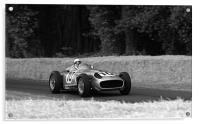 Stirling Moss and Mercedes, Acrylic Print