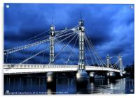 Albert bridge, London, Acrylic Print