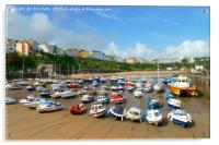 Tenby Harbour, Wales, Acrylic Print