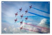 Red Arrows in Weymouth, Acrylic Print