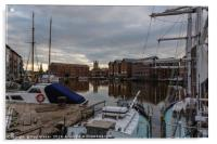 Gloucester Docks with Gloucester Cathedral, Acrylic Print