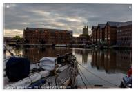 Gloucester Docks and Gloucester Cathedral, Acrylic Print