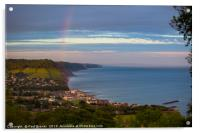 Sidmouth after the storm, Acrylic Print