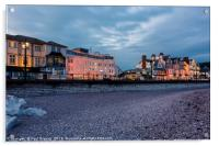 Evening in Sidmouth, Acrylic Print