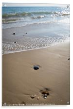 Sandbanks in early Spring, Acrylic Print