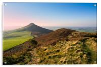 Roseberry Topping Evening glow, Acrylic Print