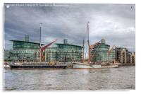 Thames Barges, Acrylic Print