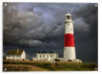 Stormy Weather at Portland Bill, Acrylic Print