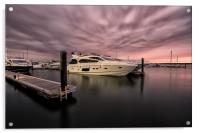 Sunseeker Sunset Poole Harbour, Acrylic Print