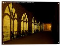 Durham Cathedral Cloisters, Acrylic Print