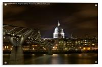 St Pauls London, Acrylic Print