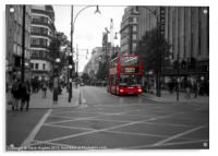 London Red Bus Route 6, Acrylic Print