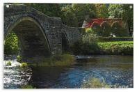 Tu Hunt T'R Bont a famous cottage tea room in Wal, Acrylic Print