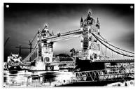 Tower Bridge art, Acrylic Print