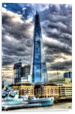 The Shard and H.M.S Belfast, Acrylic Print