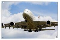 Etihad Airlines Airbus A380, Acrylic Print