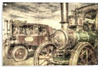Traction Engine and Steam Lorry Vintage, Acrylic Print