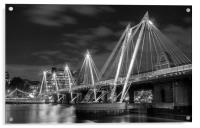 Silver Jubilee Bridge London, Acrylic Print