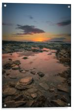 Rock Pool Sunset, Acrylic Print