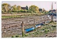 Low Tide At Lower Halstow, Acrylic Print