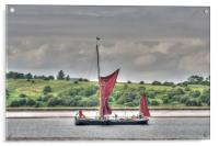 Thames Barge On The Swale, Acrylic Print