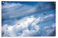 Copters over the Atlantic, Acrylic Print