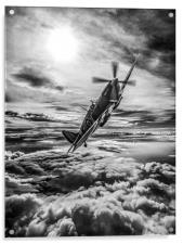 Supermarine Spitfire Fighter, Acrylic Print