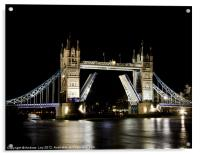 Tower Bridge Open, Acrylic Print