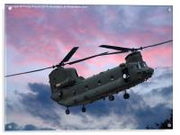 RAF Sikorksky Helicopter in the clouds, Acrylic Print