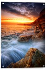Rock a nore splash, Acrylic Print