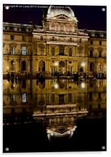 Reflections of the Louvre Palace, Acrylic Print