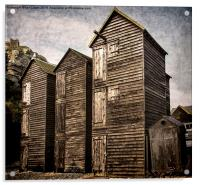 Fishermens Huts at Hastings, Acrylic Print
