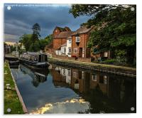 Reflections At West Mills Newbury, Acrylic Print