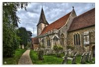 Holy Trinity Church Bosham, Acrylic Print