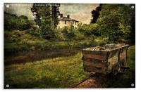 Talybont Canal And Tramway Truck, Acrylic Print