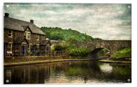 The Canal Basin At Brecon, Acrylic Print