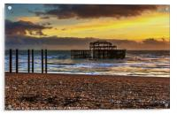 Sunset of the Pier, Acrylic Print