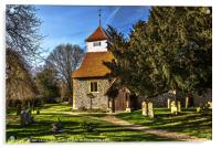 Sulhamstead Abbots Church of St Mary, Acrylic Print