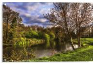 The River Kennet At Burghfield, Acrylic Print