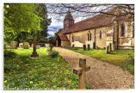 The Church At Tidmarsh in Berkshire, Acrylic Print