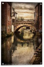 The Water Bridge In Newbury, Acrylic Print