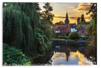 Early Evening Whitchurch on Thames, Acrylic Print