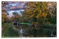 Autumn Reflections On The Kennet, Acrylic Print