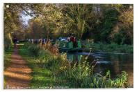 Traffic On The Kennet and Avon Canal, Acrylic Print