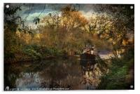 Narrowboat On The Kennet And Avon, Acrylic Print